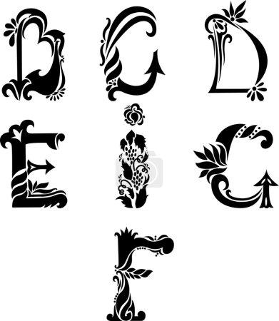 Antique curl letters...