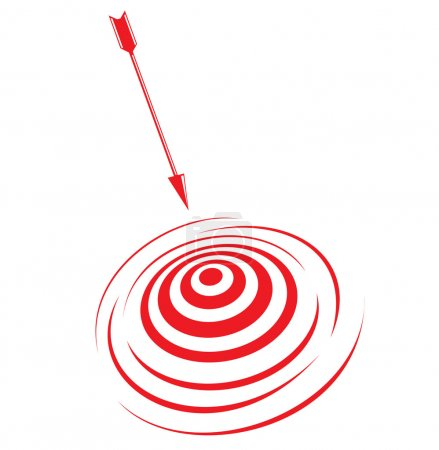 Vector illustration of target and arrow