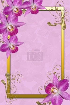 cadre d'orchidées