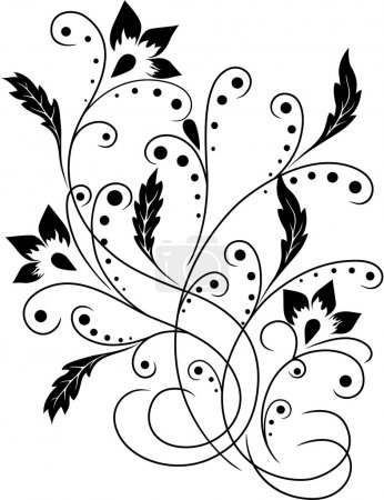 Illustration for Flower pattern - Royalty Free Image