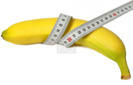 Banana and ruler