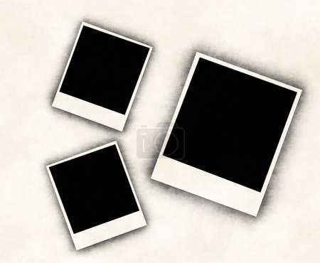 Blank photo frames on Old paper