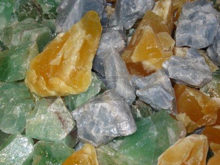 Lots of crude calcite stones...