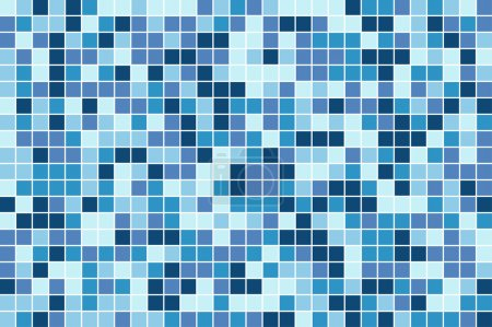 Illustration for Abstract square pixel mosaic background - Royalty Free Image