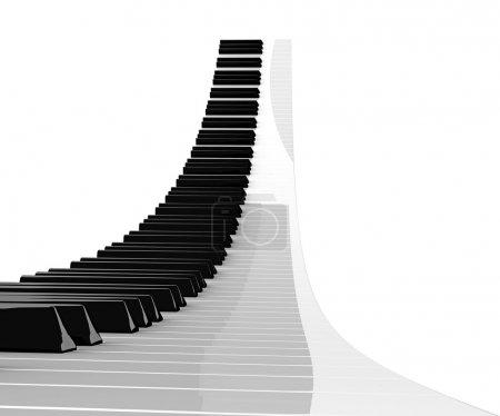 Photo pour Clavier piano montant isolé sur fond blanc - image libre de droit
