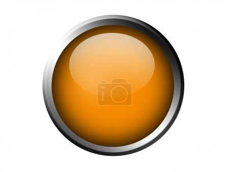 Photo for Orange button over white background. abstract illustration - Royalty Free Image