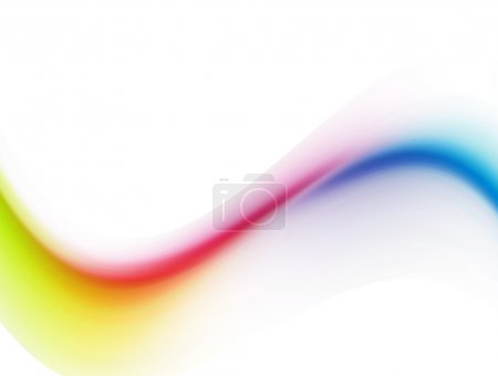 Photo pour Vague jaune, violette et bleue sur fond blanc - image libre de droit