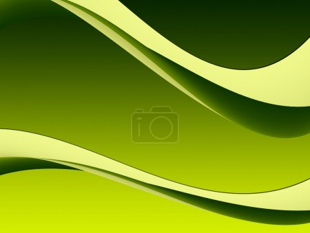 Photo for Green dynamic waves on empty background. Illustration - Royalty Free Image