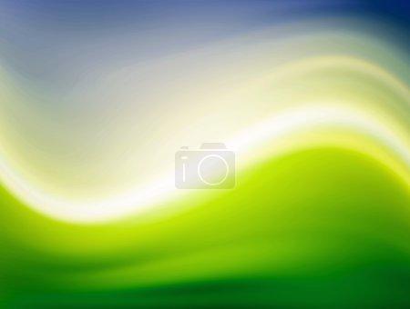 Photo pour Ondes dynamiques bleues et vertes avec effets de lumière - image libre de droit