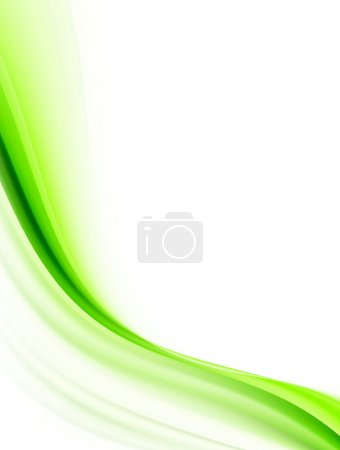 Photo for Green dynamic wave with space to insert text or design - Royalty Free Image
