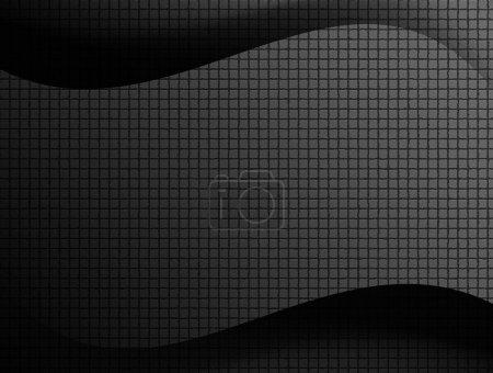 Photo pour Texture noire et grise avec des vagues. illustration prête à insérer tetxt ou conception - image libre de droit