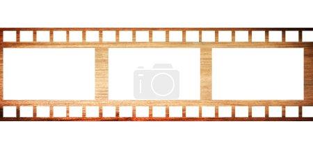 Photo pour Ancien ruban de cinéma avec espace pour insérer des images. Illustration - image libre de droit