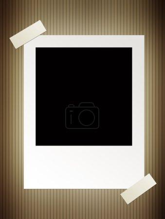 Photo for Vintage photo over wood background. Illustration - Royalty Free Image