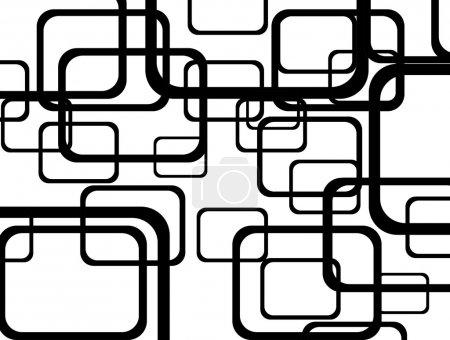 Photo pour Formes abstraites noires sur fond blanc, illustration - image libre de droit