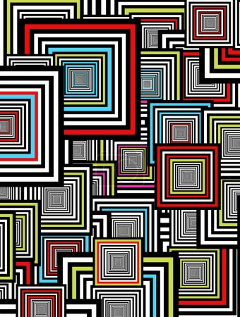 Photo pour Fond noir, bleu, rouge et vert. Carrés abstraits - image libre de droit