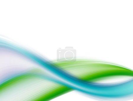 Foto de Ondas dinámicas azules y verdes sobre fondo blanco - Imagen libre de derechos