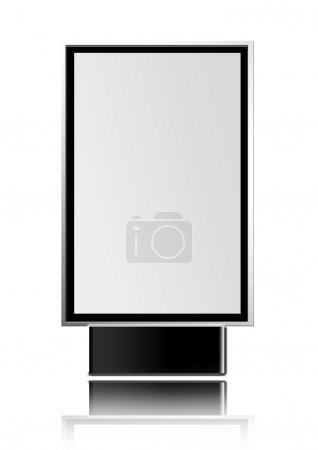 Photo for Urban advertisement on white background. illustration - Royalty Free Image