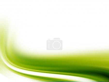 Photo pour Ondes vertes sur fond blanc. Image abstraite - image libre de droit