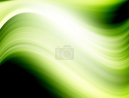 Photo for Green dynamic wave with light effects. Abstract illustration - Royalty Free Image