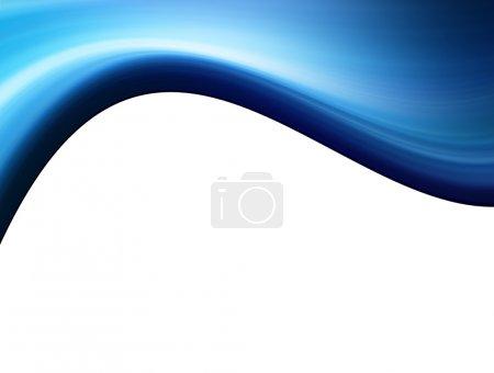 Photo pour Onde bleue dégradée sur fond blanc. Illustration - image libre de droit
