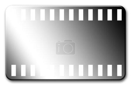 Photo pour Panneau chromé 35mm sur fond blanc. Illustration - image libre de droit