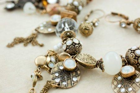 Female bijouterie in jewelry box