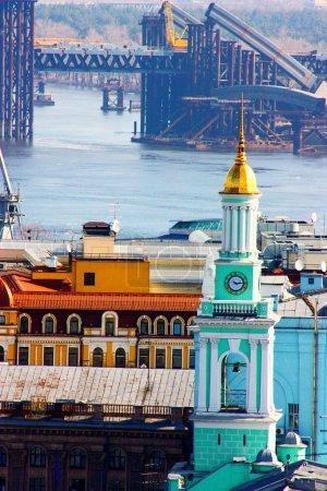 Kiev bussines and industry city landscap