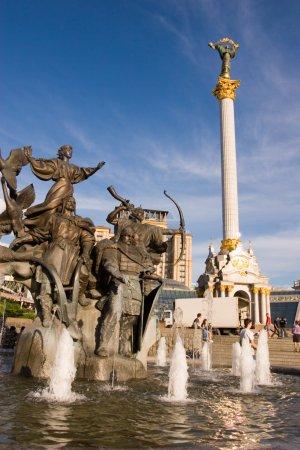 Statue of an angel in Kiev