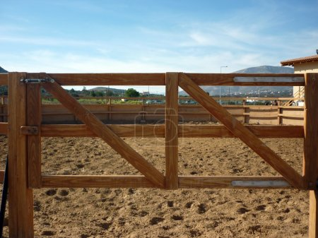 Horse wooden fence