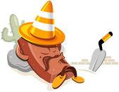 Under construction cartoon character