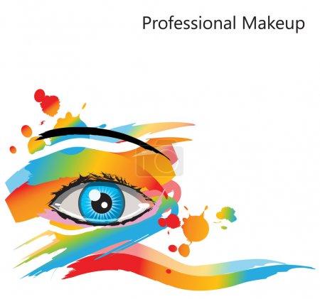 Illustration pour Maquillage abstrait vecteur oeil féminin - image libre de droit