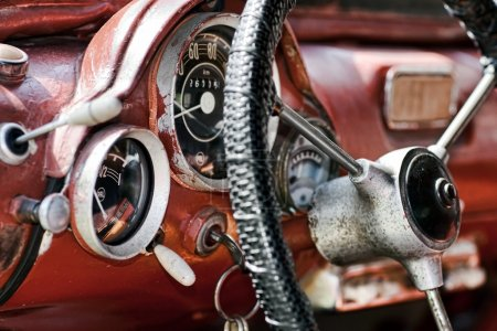 Interior in an old car