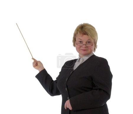 Blond female teacher