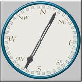 Old retro compass