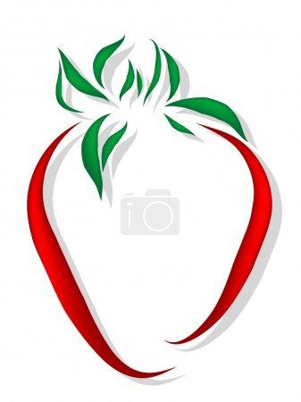 Illustration pour Icône abstraite fraise - illustration vectorielle - image libre de droit