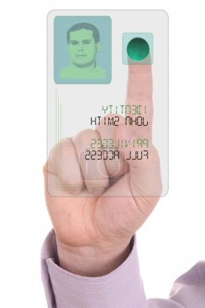 Concept of secure data by touch screen