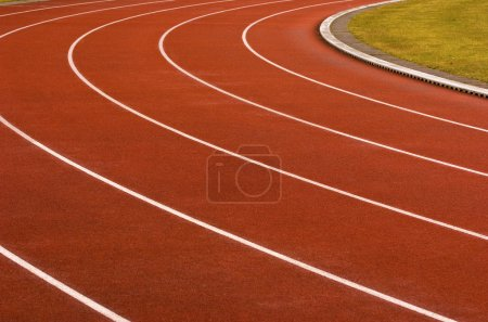 Photo for Red running tracks - Royalty Free Image