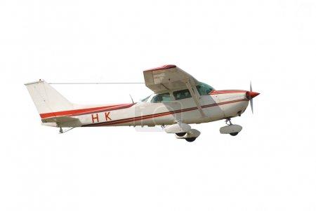 Photo pour Petit avion isolé sur fond blanc - image libre de droit