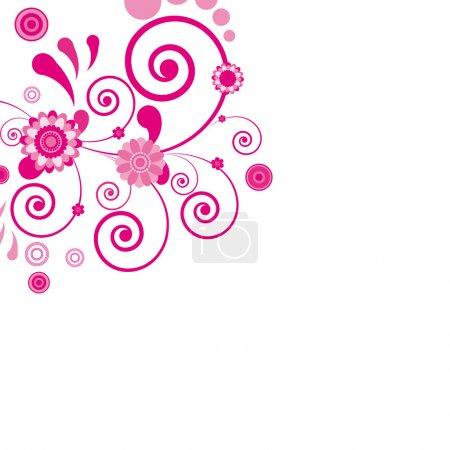 Illustration for Vector. Pink flower. Floral background. Illustration for your design. - Royalty Free Image