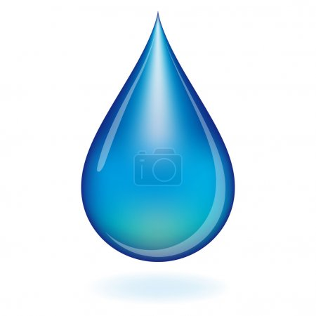 Water drop. Illustration for your design....