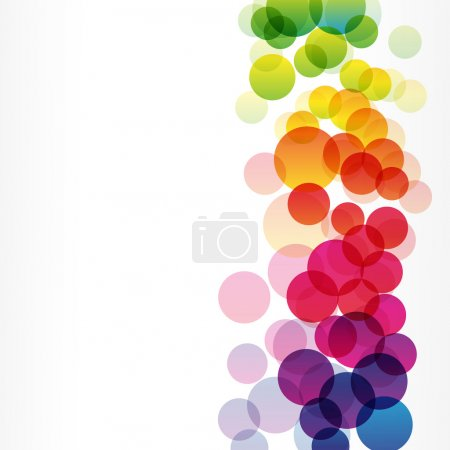 Illustration for Colorful rainbow vector background Illustration for your design - Royalty Free Image