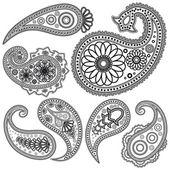 Eps Vintage Paisley patterns for design Illustration for your design