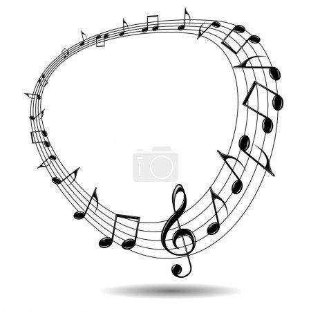 Illustration for Eps music background. Illustration for your design. - Royalty Free Image
