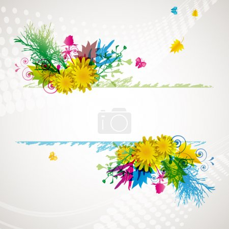 Illustration for Abstract flora background - Illustration for your design. - Royalty Free Image