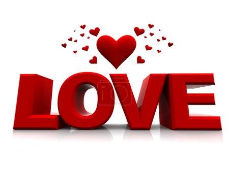 Foto de Feliz día de San Valentín con corazones 3d - Imagen libre de derechos