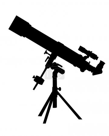 Black silhouette of a telescope