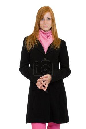 Photo pour Belle femme aux cheveux rouges - image libre de droit