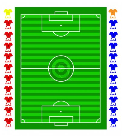 A vector soccer football tactical pitch