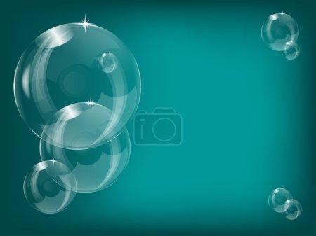 Transparent soap bubbles background