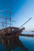 Illuminated sailing ship
